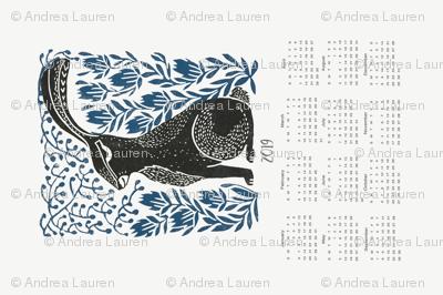2019  hare calendar // linocut hare calendar andrea lauren fabric andrea lauren calendar linocuts