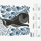 2017 hare calendar // linocut hare calendar andrea lauren fabric andrea lauren calendar linocuts