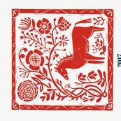 2017 horse calendar // horse calendar linocut cut and sew horse calendar spoonflower fabric andrea lauren fabric