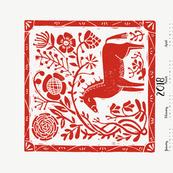 2018 horse calendar // horse calendar linocut cut and sew horse calendar spoonflower fabric andrea lauren fabric