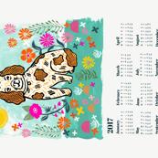 2017 dog calendar // dog calendar linocut design illustration andrea lauren dog calendar