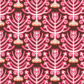 Magic forest in ikat style