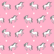 unicorn // pink pastel champagne girls cute design for little girls unicorn fabric unicorn design unicorns fabric