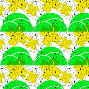 Cross bananas Yellow & Green