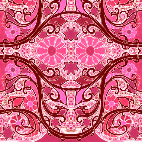 Let There Be Hot Pink fabric by edsel2084 on Spoonflower - custom fabric