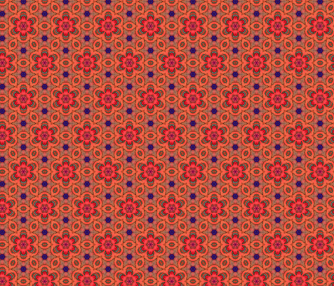 Orange Roses fabric by whimsydesigns on Spoonflower - custom fabric