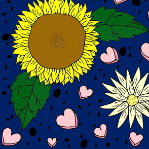 sunflower_heart_fabric