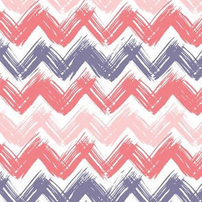 Painted blue and pink chevron