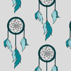 Dreamcatchers - teal,grey