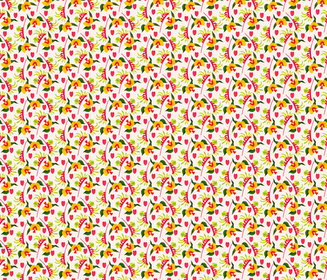 Gorse Bitterpea Light fabric by zoe_ingram on Spoonflower - custom fabric