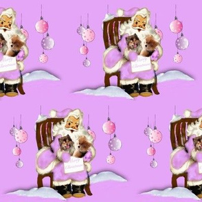 Pomeranian Xmas pink