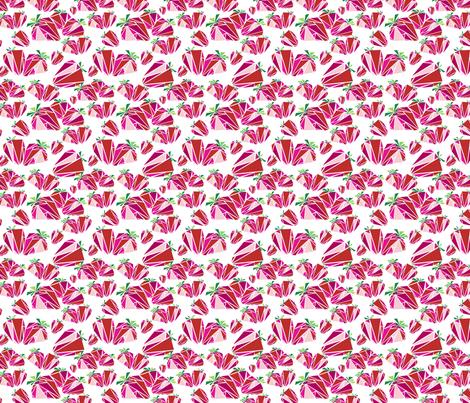 Strawberries fabric by thread_sa on Spoonflower - custom fabric