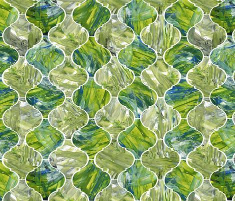 Ogee - greens fabric by crumpetsandcrabsticks on Spoonflower - custom fabric