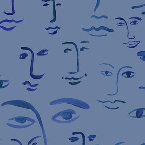 indigo faces