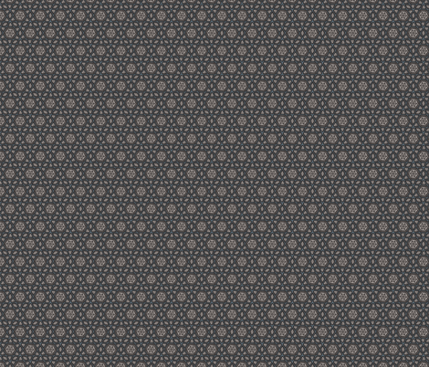 Sketchy Hexagons Gray Blue White fabric by jaylinn on Spoonflower - custom fabric