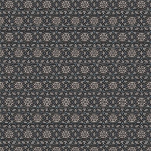 Sketchy Hexagons Gray Blue White