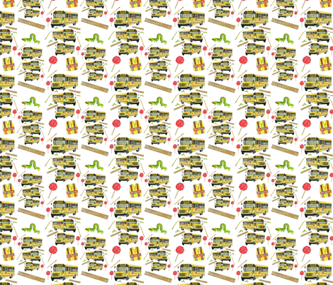 BACK_TO_SCHOOL fabric by pam_ash_designs on Spoonflower - custom fabric
