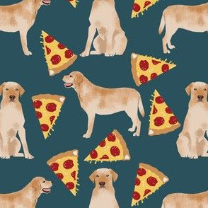 yellow labrador pizza fabric cute dog design dog breed fabric funny pizza fabric yellow lab design yellow labrador retriever
