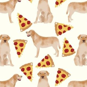 yellow labrador fabric pizza funny cute lab dog fabric labrador fabrics lab yellow lab