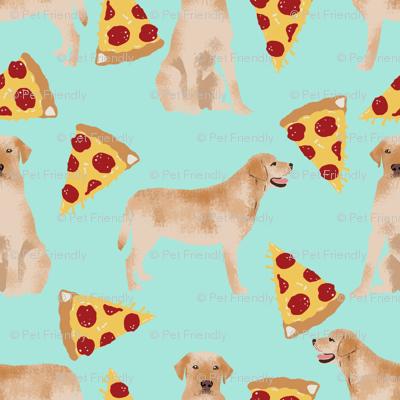 labrador pizza fabric golden yellow lab fabric yellow lab fabric pizza fabric cute dog breed fabrics