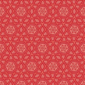 Sketchy Hexagons Ruby