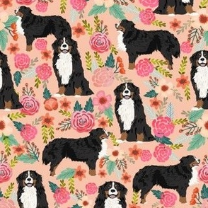 bernese mountain dog florals dog florals dog breed fabrics dog design cute flowers floral dogs best dog design