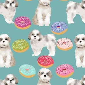shih tzu donut fabric sweet dogs pink donuts pets dog breed fabric donuts