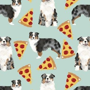 australian shepherd pizza funny cute blue merle aussie dog fabric australian dog fabrics australian shepherds cute