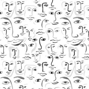 mono faces
