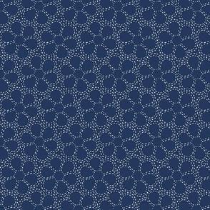 Stitched Flowers (sashiko) Indigo Smaller