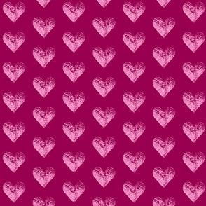 Two-Toned Magenta Hearts