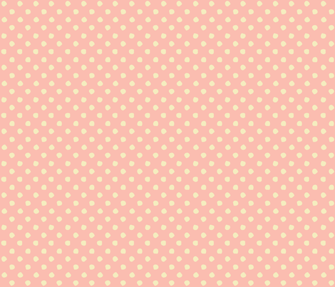 Odd Dots - Mellow Rose & Vanilla fabric by jodiebarker on Spoonflower - custom fabric