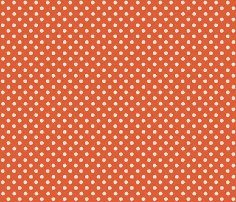 Odd Dots - Paprika & Cream fabric by jodiebarker on Spoonflower - custom fabric