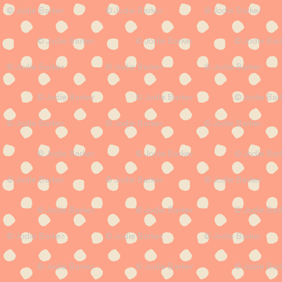 Odd Dots - Salmon & Cream