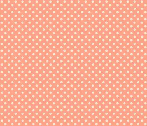 Odd Dots - Salmon & Cream fabric by jodiebarker on Spoonflower - custom fabric