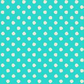 Odd Dots - Tiffany Blue & Cream