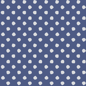 Odd Dots - Delft Blue & Pale Grey