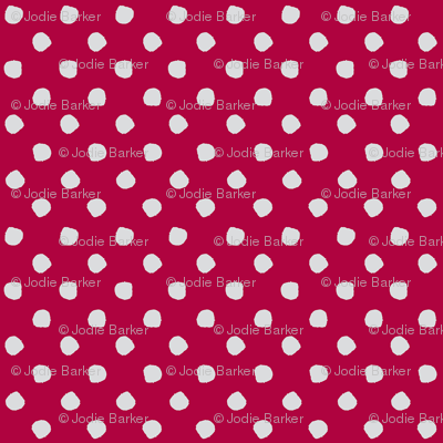 Odd Dots - Raspberry & Pale Grey