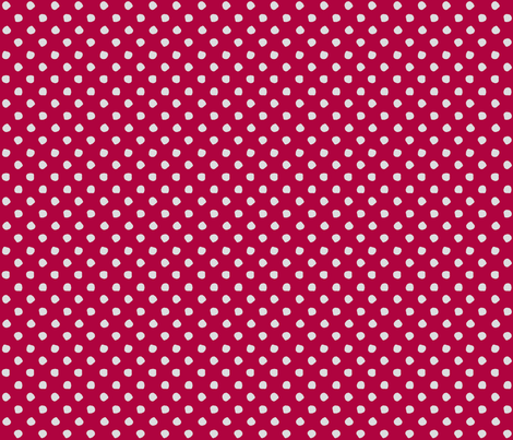 Odd Dots - Raspberry & Pale Grey fabric by jodiebarker on Spoonflower - custom fabric