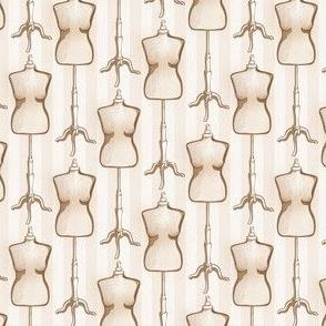 Distressed Dressform Sepia