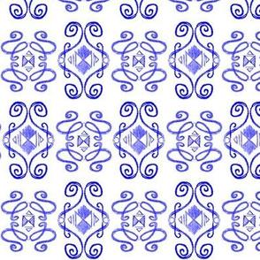 Doodle Eliot blue