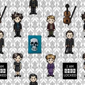 Cutesy Holmes - BBC Sherlock - Large Print