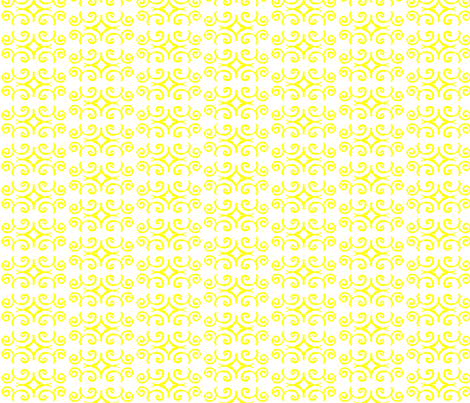 Doodle Aaron yellow fabric by knusperfelix on Spoonflower - custom fabric