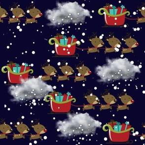 Reindeer Sleigh Race