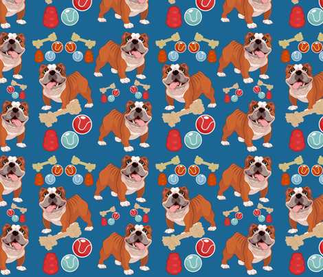 Butch & his Toys fabric by floramoon on Spoonflower - custom fabric