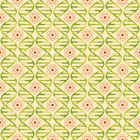 05670408 : dna + atom : apple juice fabric by sef on Spoonflower - custom fabric
