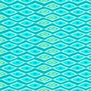 Seaside Diamonds Teal Lime 250