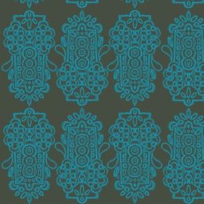 Alhambra Turquoise & Slate