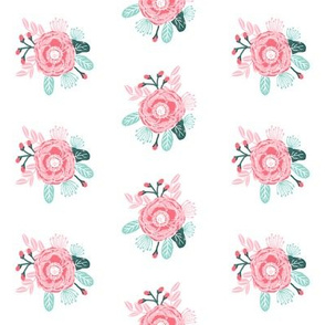 flowers florals painted flower fabric, girls fabric, les fleurs fabric, peonies, peony, fabric for girls room,