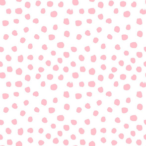 painted pink dots fabric, dots fabric, painted fabric, girls fabric